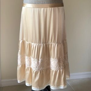 Banana Republic Silk Long Skirt